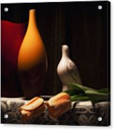 Still Life With Vases And Tulips Acrylic Print