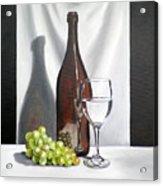 Still Life With White Wine Acrylic Print