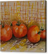 Still Life With Tomatoes Acrylic Print