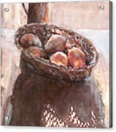 Stillife With Onions Acrylic Print