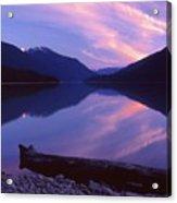 Stillness At Lillooet Lake  Acrylic Print