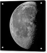 Stitched-together Moon Acrylic Print