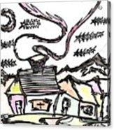 Stitchlip's House Acrylic Print by Levi Glassrock