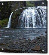 Stjornarfoss Waterfall - Iceland Acrylic Print