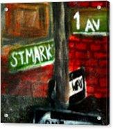St.marks Place Acrylic Print