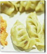 Stock Image For Momo Vegetable Dish India Acrylic Print