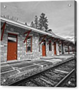 Stockbridge Train Station Acrylic Print