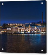 Stockholm By Night Acrylic Print