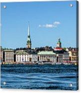Stockholm From Lake Malaren Acrylic Print