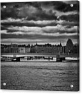 Stockholm In Black And White Acrylic Print