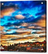 Stockholm In Bold Colors Acrylic Print