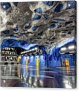 Stockholm Metro Art Collection - 003 Acrylic Print