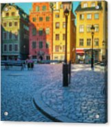Stockholm Stortorget Square Acrylic Print