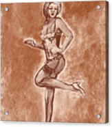 Stockings And Stilettos  Acrylic Print