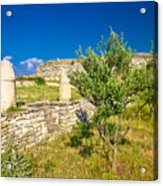 Stone Artefacts Of Asseria Ancient Town Acrylic Print