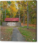 Stone Building In The Park Acrylic Print