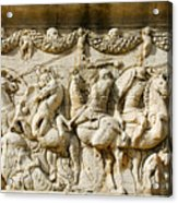 Stone Carving On Mausoleum Of The Julii Acrylic Print