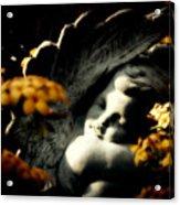 Stone Cherub  Acrylic Print