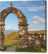 Stone Church In Autumn Acrylic Print
