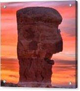 Stone Face Sunset Acrylic Print