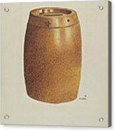 Stone Fruit Jar With Star Acrylic Print