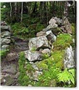 Stone Gate - Edmands Path - White Mountains New Hampshire  Acrylic Print