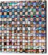 Stone Grid Acrylic Print
