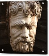 Stone Head In Venice Acrylic Print