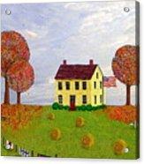 Stone House In Autumn Acrylic Print
