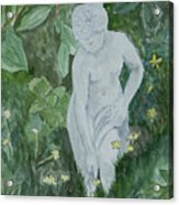 Stone Lady In The Butercups Acrylic Print