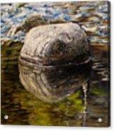Stone Landscape Original Oil Painting Acrylic Print