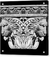 Stone Lion Column Detail Acrylic Print