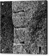 Stone Mason Scars Monochrome Acrylic Print