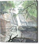 Stone Mountain Falls - The Upper Cascade Acrylic Print