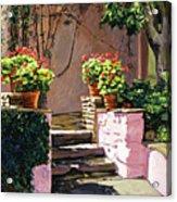 Stone Patio California Acrylic Print