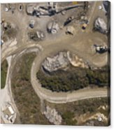 Stone Quarry Aerial Acrylic Print