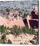 Stone Quarry In Red Rock Canyon Open Space Park Acrylic Print