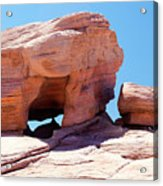 Stone Temple Valley Of Fire Acrylic Print