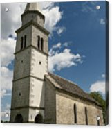Stone Tile Roof Of The Church Of The Holy Cross In Tomaj Parish  Acrylic Print