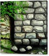 Stone Tunnel Acrylic Print