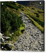 Stone Walkway Towards The Pointed Peak Acrylic Print