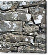 Stone Wall Detail Doolin Ireland Acrylic Print