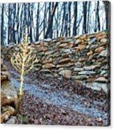 Stone Wall Ga Mountain 1 Acrylic Print