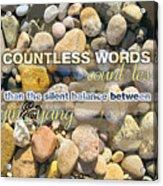 Stone Wisdom Acrylic Print
