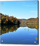 Stonecoal Lake In Autumn Color Acrylic Print