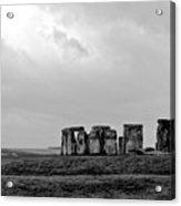 Stonehenge - B/w 1 Acrylic Print