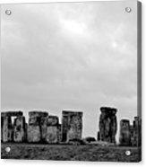 Stonehenge - B/w 2 Acrylic Print