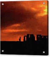 Stonehenge Impasto 2 Acrylic Print