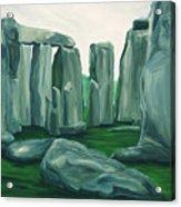 Stonehenge In Spring Acrylic Print