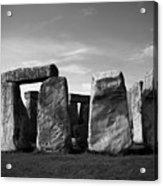 Stonehenge No 1 Bw Acrylic Print